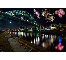 Tyne Bridge Fireworks, Newcastle upon Tyne, UK Photographic Print