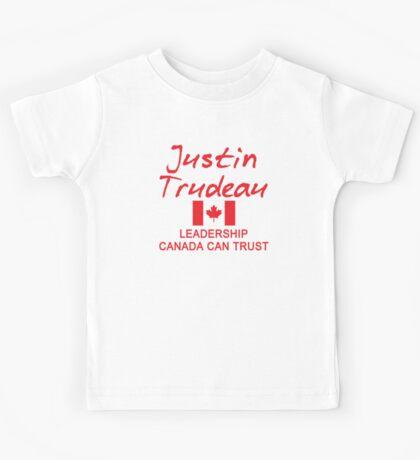 JUSTIN TRUDEAU LEADERSHIP CANADA CAN TRUST Kids Tee