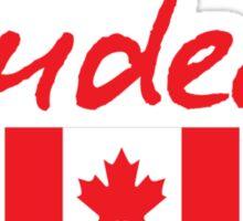 JUSTIN TRUDEAU LEADERSHIP CANADA CAN TRUST Sticker
