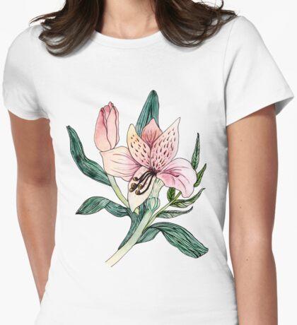 Alstromeria I Womens Fitted T-Shirt