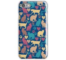 Love Kitty Cats Pattern iPhone Case/Skin