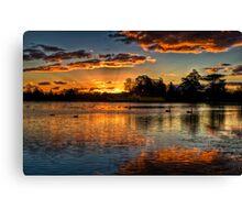 Sunset over Lake Wendouree Canvas Print