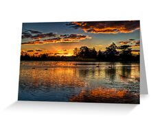 Sunset over Lake Wendouree Greeting Card