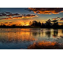 Sunset over Lake Wendouree Photographic Print