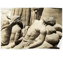 Religious Sand Sculpture Poster