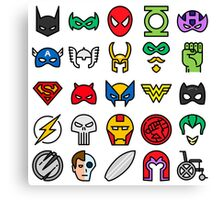 Superheroes Canvas Print