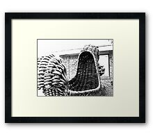 Giant Wicker Squirrel Attacks House Framed Print