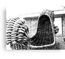 Giant Wicker Squirrel Attacks House Canvas Print
