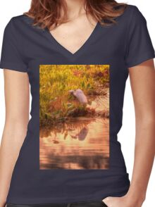 Dawn Mannington Meadows, It's Going to be a Great Day Women's Fitted V-Neck T-Shirt