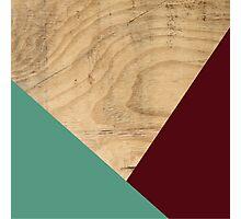 Wood WINE + MINT Photographic Print