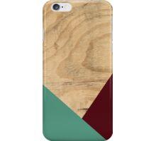 Wood WINE + MINT iPhone Case/Skin