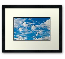 Beautiful Blue Clouds Framed Print