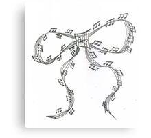Ribbon Music Metal Print