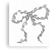 Ribbon Music Canvas Print