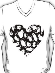 Crazy Cat Heart  T-Shirt