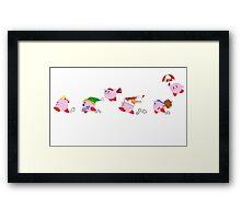 Kirby on the Run Framed Print