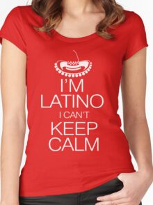 I'm Latino I can't keep calm Women's Fitted Scoop T-Shirt