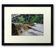 Marne River ford Framed Print