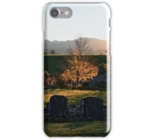 Dovedale rural cemetery iPhone Case/Skin