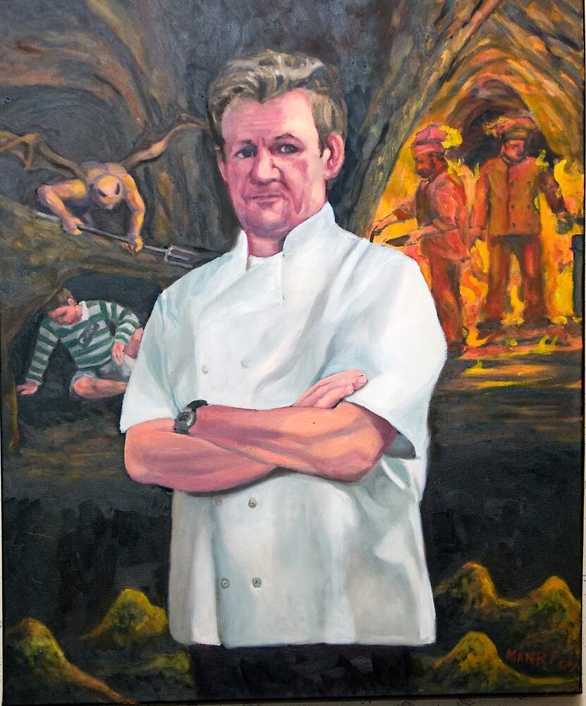 Portrait of Chef Gordon Ramsay by Douglas Manry