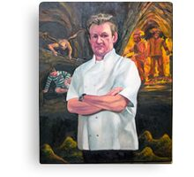 Portrait of Chef Gordon Ramsay Canvas Print