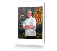 Portrait of Chef Gordon Ramsay Greeting Card