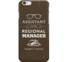 The Office Dunder Mifflin - Assistant to the Regional Manager iPhone Case/Skin
