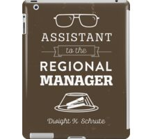 The Office Dunder Mifflin - Assistant to the Regional Manager iPad Case/Skin