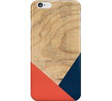 Wood ORANGE + DARK BLUE iPhone Case/Skin