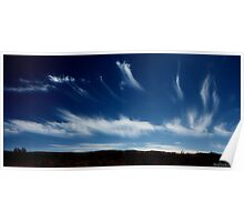 Cirrus clouds over Blue Diamond Hills Poster