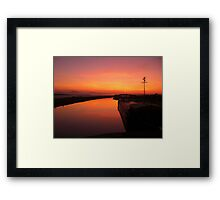 Sunset - Mudflats near Blennerville, County Kerry, Eire Framed Print