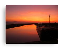 Sunset - Mudflats near Blennerville, County Kerry, Eire Canvas Print