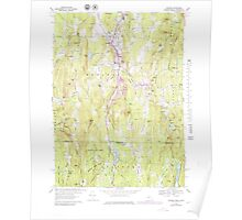 Massachusetts  USGS Historical Topo Map MA Monson 351114 1967 25000 Poster