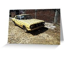 Rusty Old Car Greeting Card