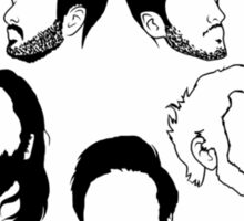 Young the Giant Festive Planet Black and White Sticker