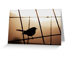 Willy Wag Tail Silhoutte Greeting Card