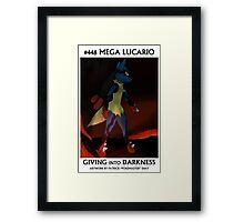 Mega Lucario: Giving Into Darkness Framed Print