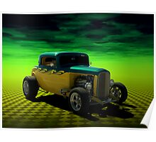 1932 Ford 3 Window Coupe Hot Rod Poster