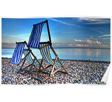 Deckchairs at Beer Poster