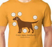Anatomy of a Labrador Retriever Unisex T-Shirt