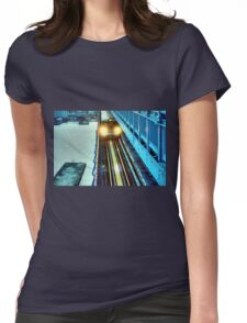 The Train Womens Fitted T-Shirt