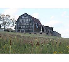 old mail pouch tobacco barn, located in Ripley, WV Photographic Print