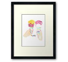 Funky pastels Framed Print