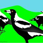 Magpies by rodesigns