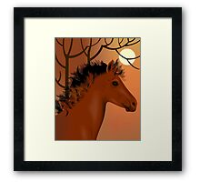 Horse and nature	 Framed Print