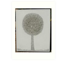 MicroDoodle Topiary Art Print