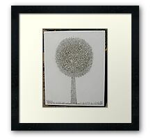 MicroDoodle Topiary Framed Print