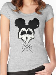 Dead Mouse (B&W) Women's Fitted Scoop T-Shirt