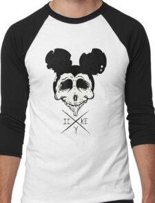 Dead Mouse (B&W) Men's Baseball ¾ T-Shirt