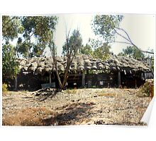 Thatched roof Barn Poster